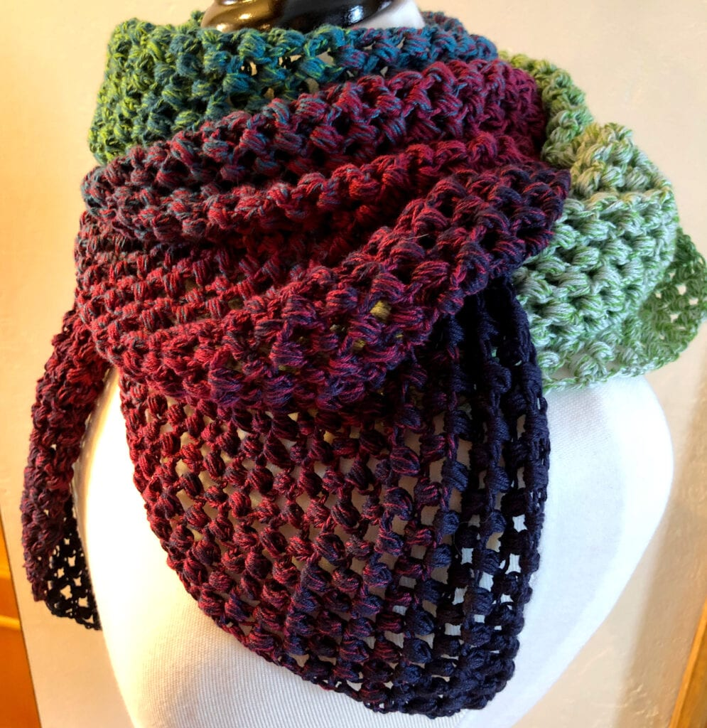 Shawl Wrapped Around Neck for Warmth