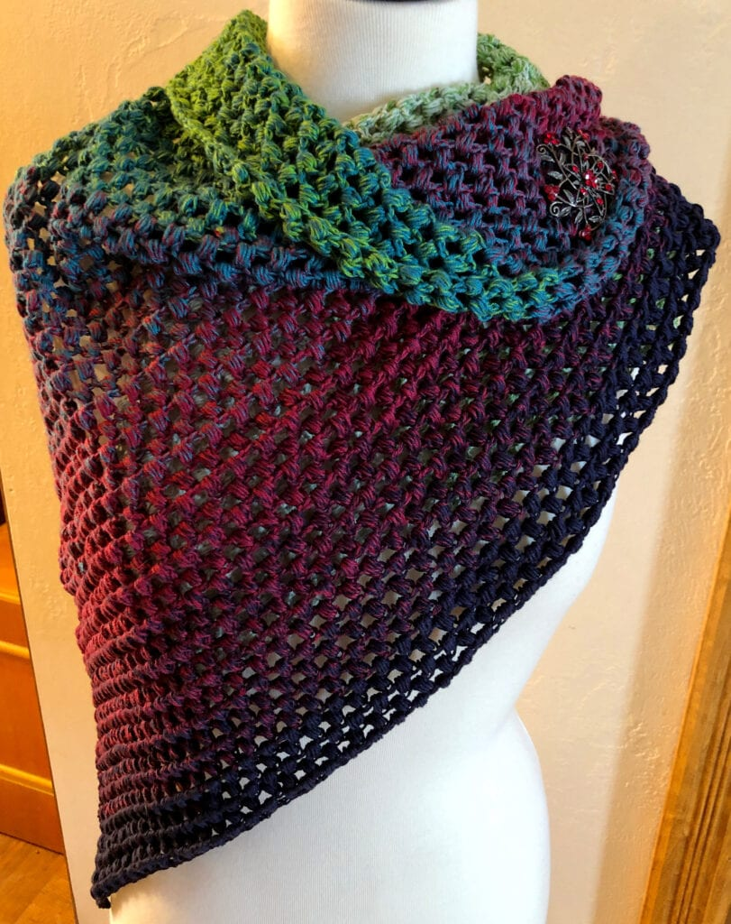 Showing the Black and Red Hues in the Shawl