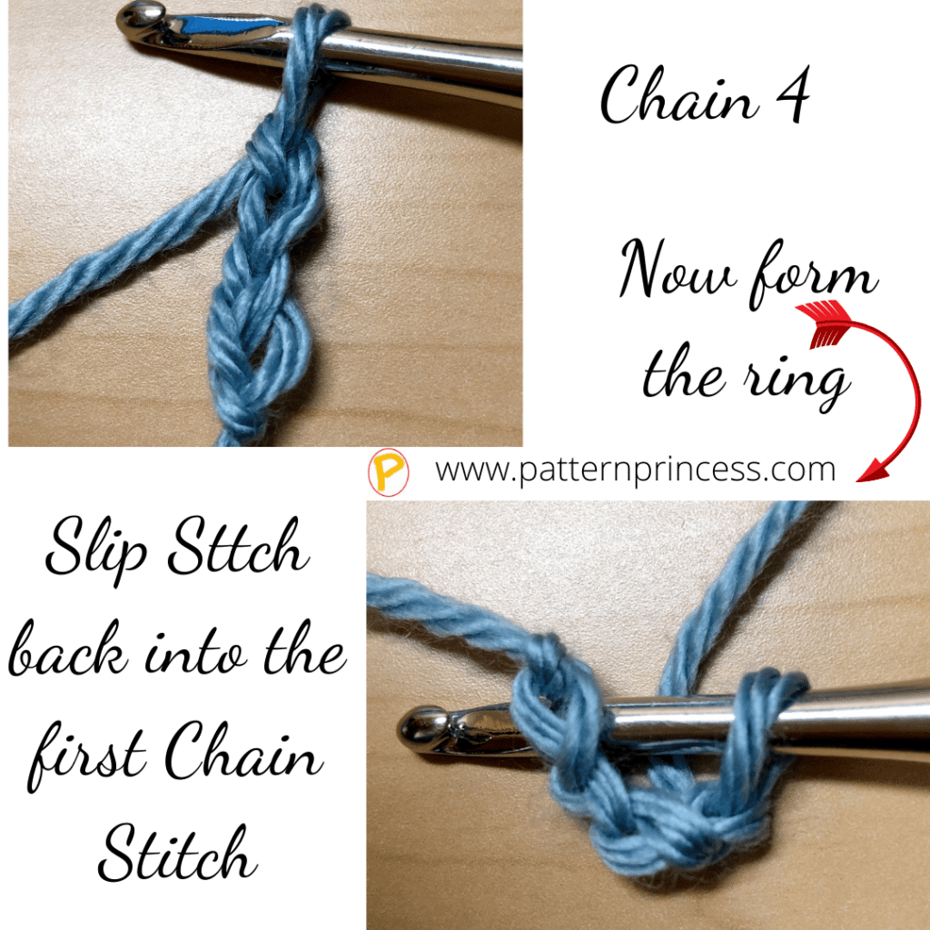 Chain Stitch to Form a Circle
