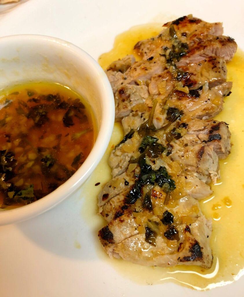 Fried Pork Loin with Sauce