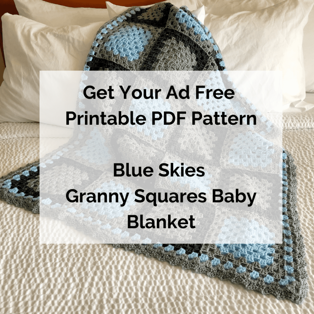 Get Your Ad Free Printable PDF Pattern Blue Skies Granny Squares Baby Blanket