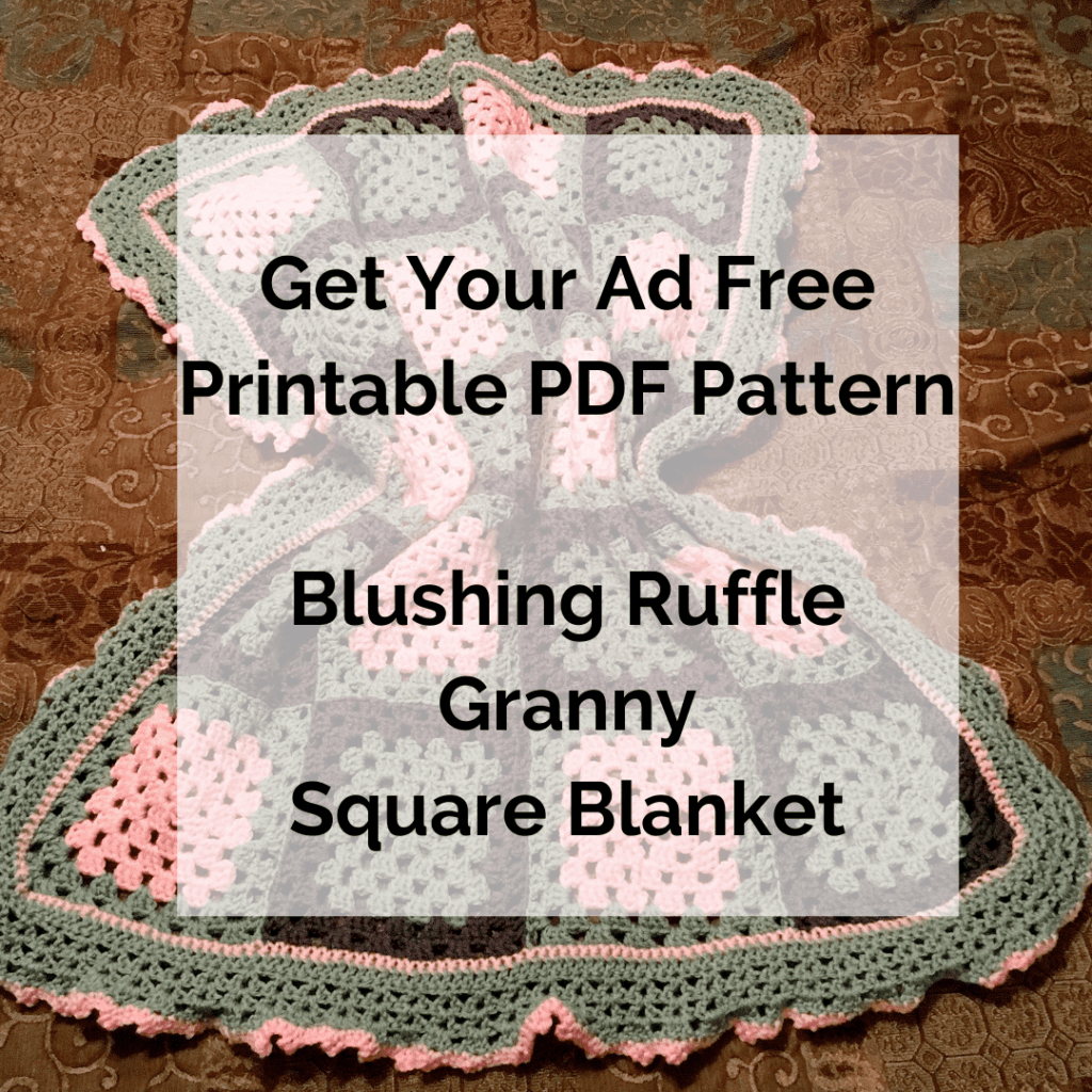 Get Your Ad Free Printable PDF Pattern Blushing Ruffle Granny Square Blanket