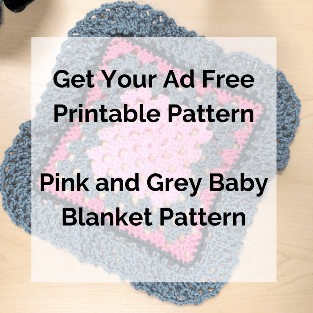 Get Your Ad Free Printable Pattern Pink and Grey Baby Blanket Pattern