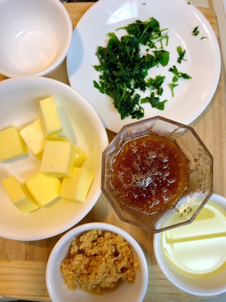 Honey Garlic Butter Ingredients