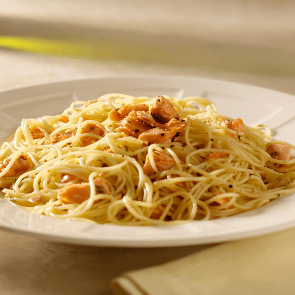 Honey Garlic Lemon Chicken and Pasta