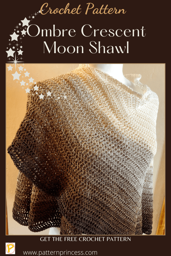 Ombre Crescent Moon Shawl