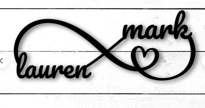 Engagement Gift Personalized metal Sign