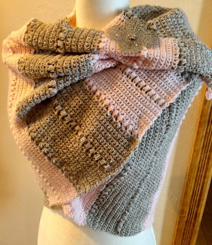 Linen and Lemonade Colored Shawl Crochet Pattern