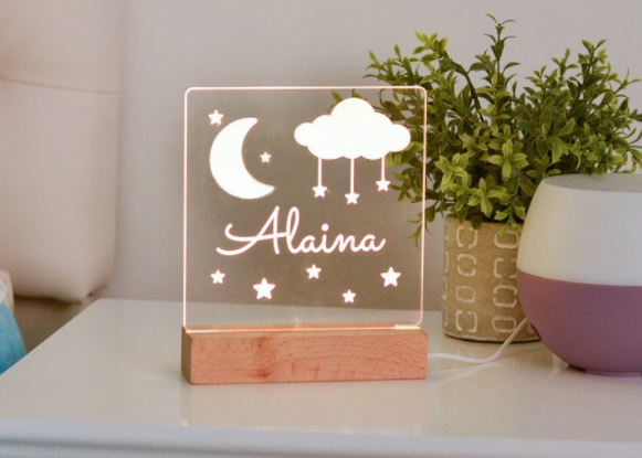 Moon and Stars Personal Night light