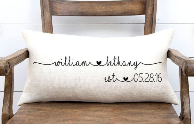 Rustic Burlap Pillow