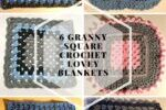 6 Granny Square Crochet Lovey Blanket Patterns
