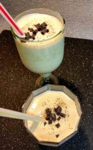 After Dinner Drink Topped with Nutmeg and Shaved Chocolate Garnishes