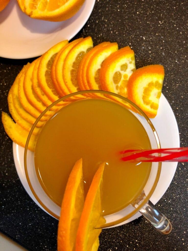 Amaretto Sunset Mimosa Brunch Drink