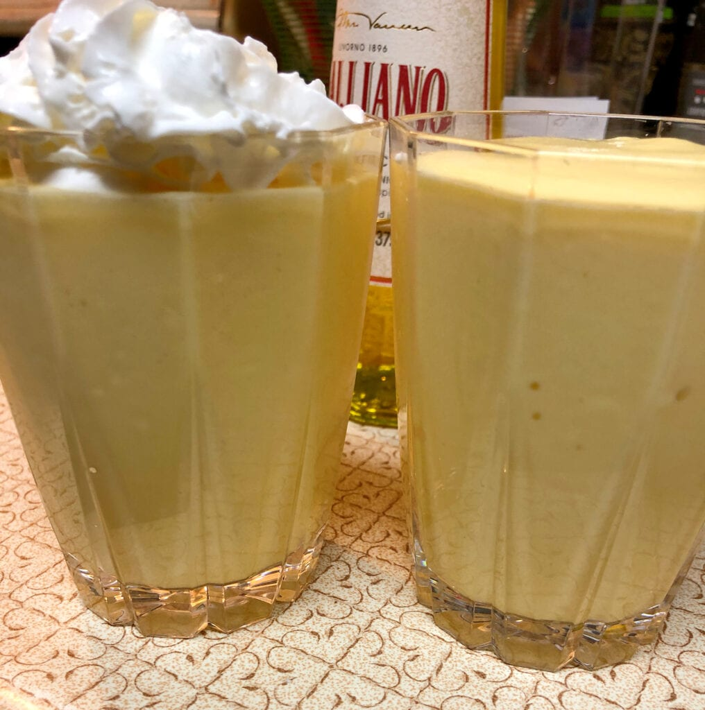 Golden Cadillac Garnished with Whipping Cream