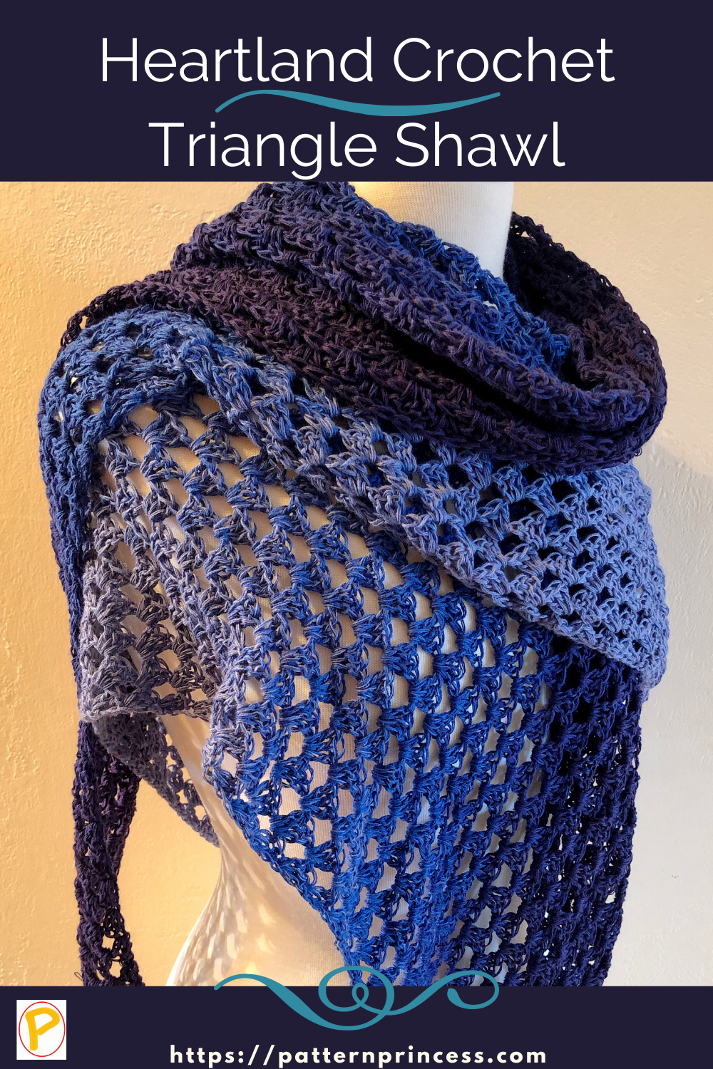 Heartland Crochet Triangle Shawl