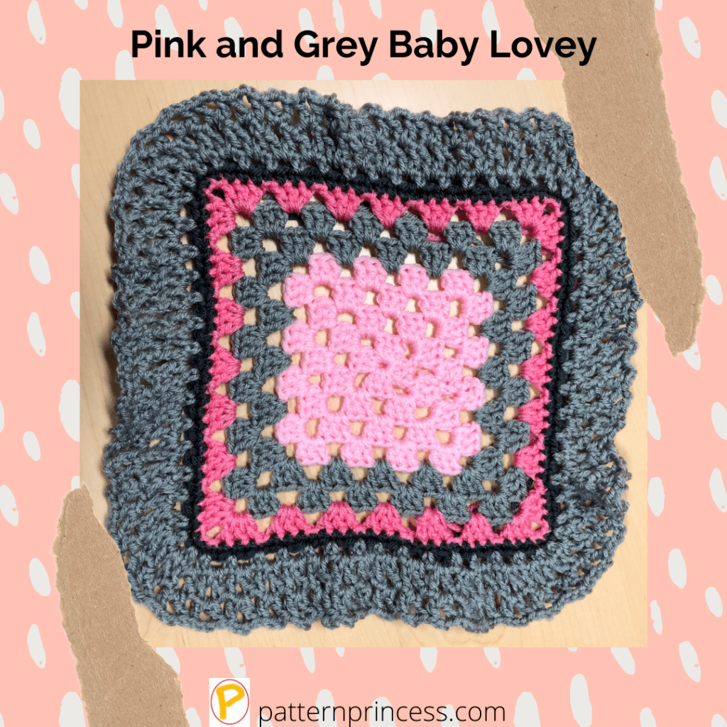 Pink and Grey Baby Lovey