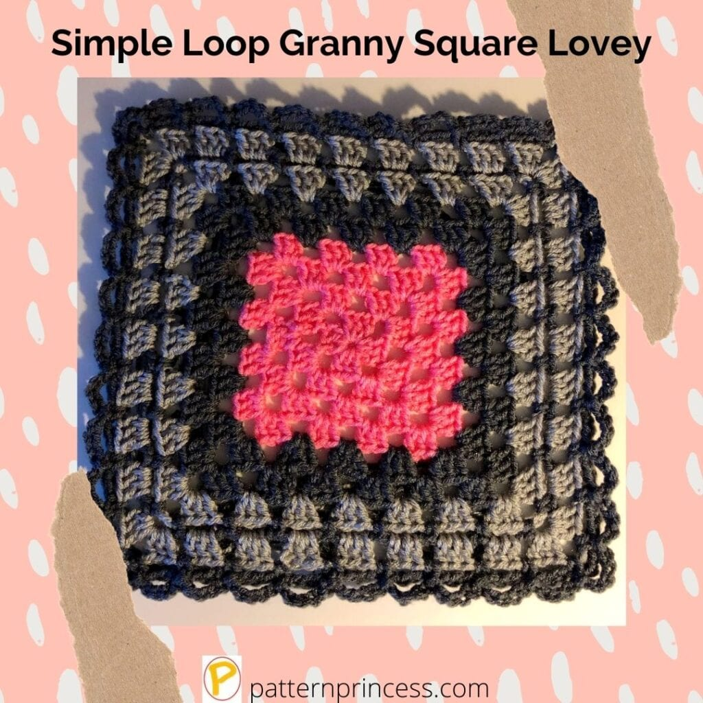 Simple Loop Granny Square Lovey 1