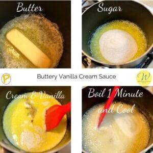 Buttery Vanilla Cream Sauce