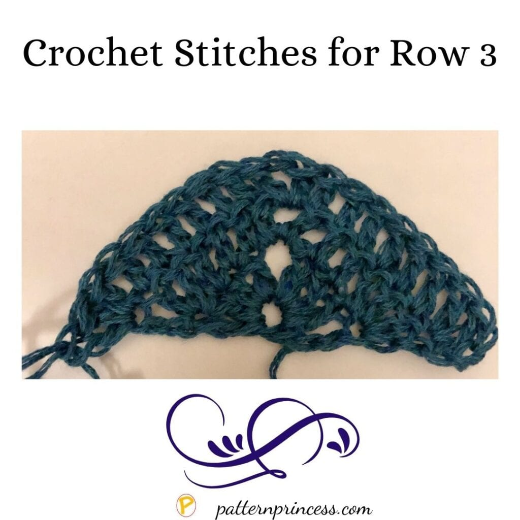 Crochet Stitches for Row 3