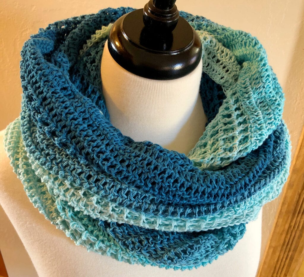 Light Shawl Wrapped as a Scarf