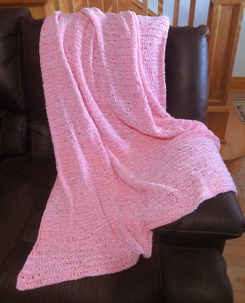 Lovely Plush Pink Afghan