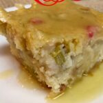 Rhubarb Cake with Buttery Cream Sauce