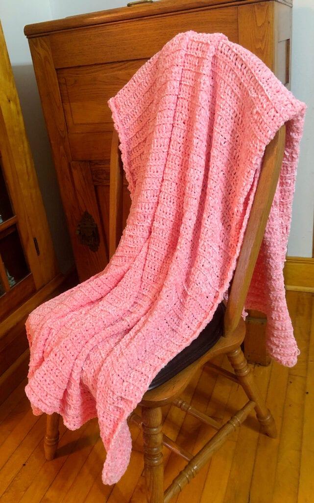 chunky Velvet Crochet Afghan