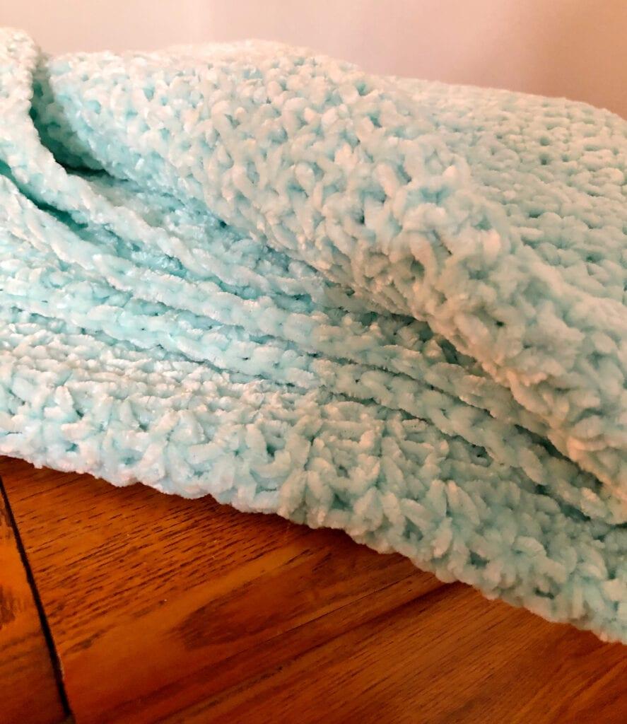Close Up of Crochet V-Stitches