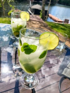 Sharing a Mojito with Friends on Patio