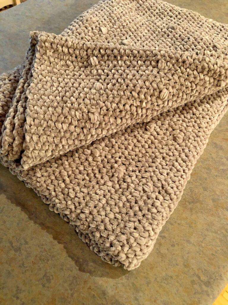 Texture and Bobbles Crochet Throw